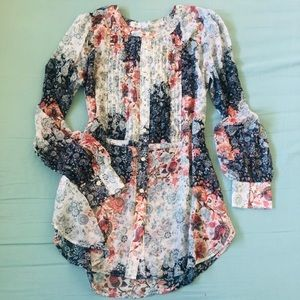 MOVING OUT SOON ! MUST GO Collarless Henley Blouse